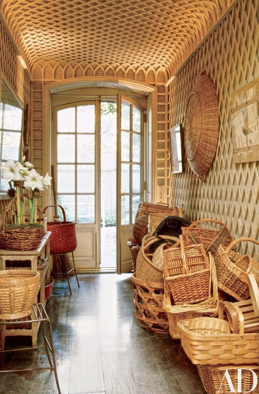Leonard and Strom latticed the garden vestibule. | Entry, Hall ...