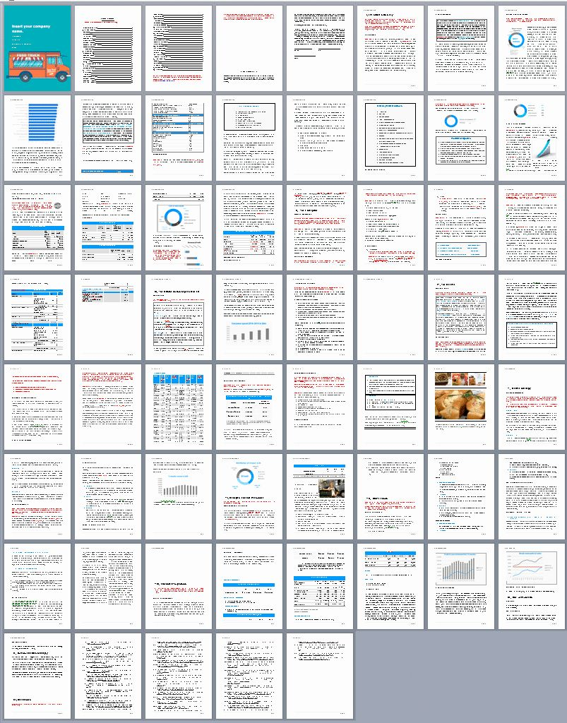 40 Food Truck Business Plan Template in 2020 (With images