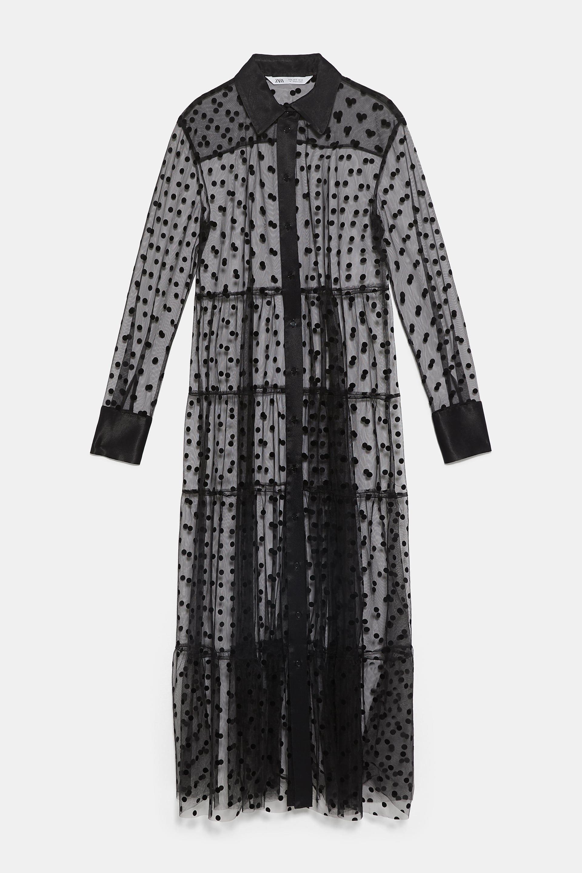 e63e25c372 Tulle dot dress | 2019 in 2019 | Dresses, Zara black dress, Black ...