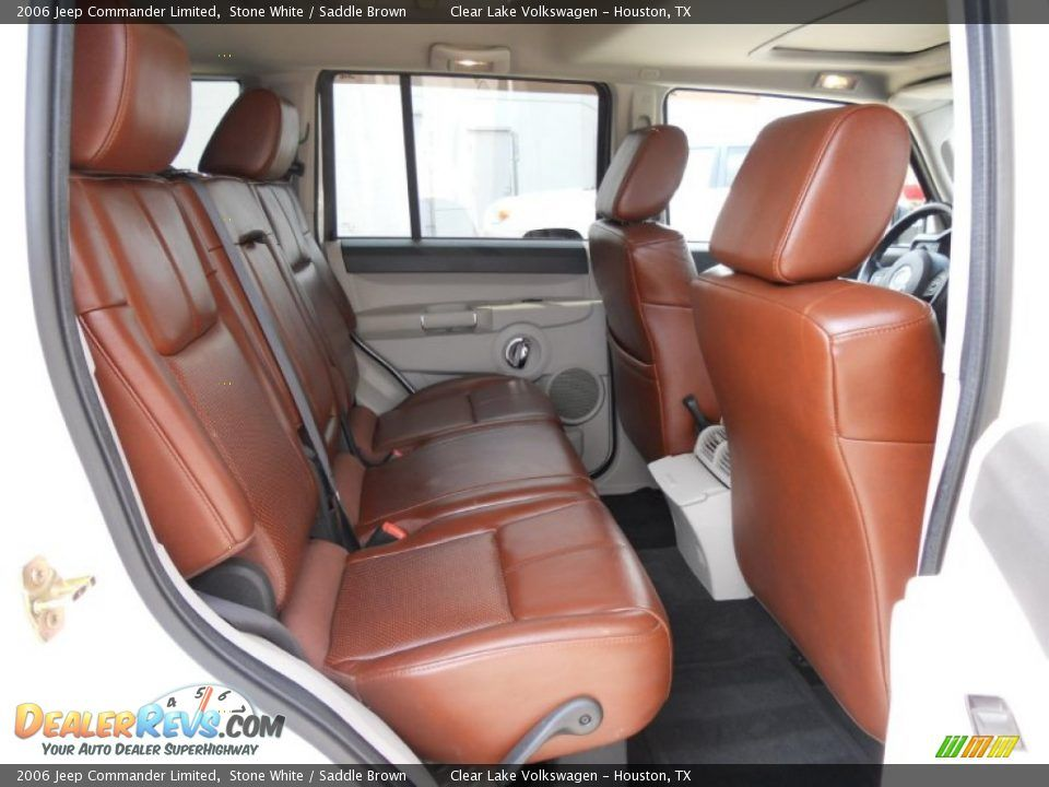 Saddle Brown Interior 2006 Jeep Commander Limited Photo 17 Jeep