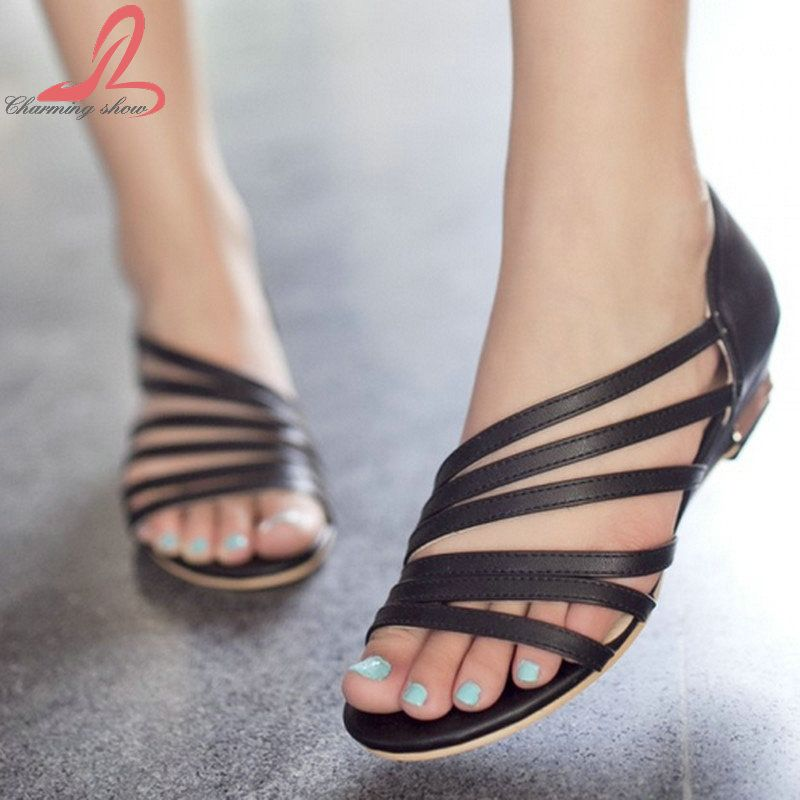 cc037374b 2015 New Women s Sandals Summer Fashion Sweet Dress sandals hollow low heel  shoes lady casual shoes size 33-33 Free shipping