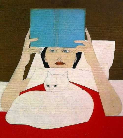Will Barnet Woman reading, 1970