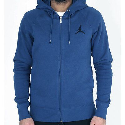 a586cd8c6705a2 Nike Jordan Jumpman Brushed Full Zip French Blue Hoodie 688995-442 Mens  Size XL