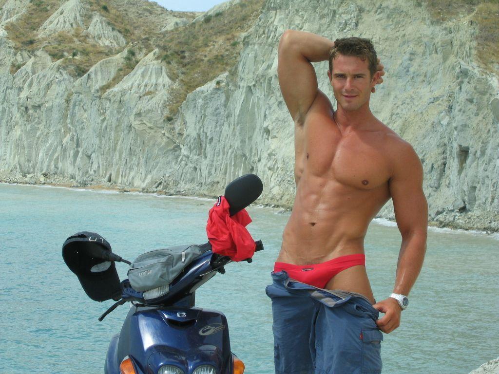 Pavel's beach pose