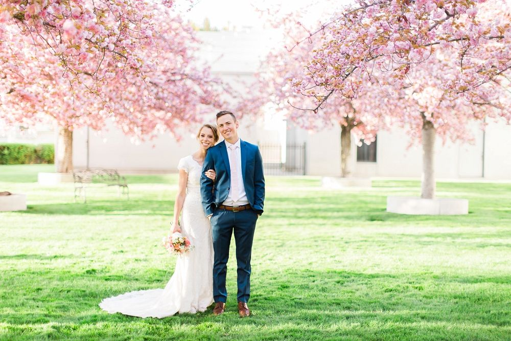 Emily + Landon | Abbey Kyhl | AK Studio & Design | Utah Bridal Photography | Salt Lake Photographer | Bride & Groom Session | Bridal Photography | Salt Lake Temple | LDS Weddings | Latter Day Bride | Blossom | Wedding Inspiration