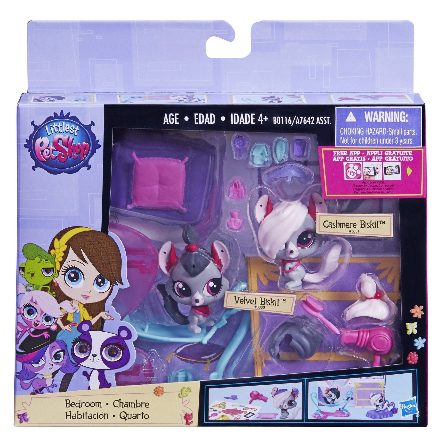 Amazon Com Littlest Pet Shop Bedroom Chinchilla Playset Cashmere Biskit 3831 Littlest Pet Shop Pet Shop Little Pet Shop