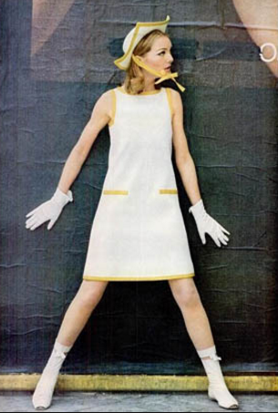 Looking Toward The Work Of Andre Courreges The Space Age Designer From The 60 S His Minimalist Lines Geometric Shapes Sixties Fashion Fashion 1960 Fashion