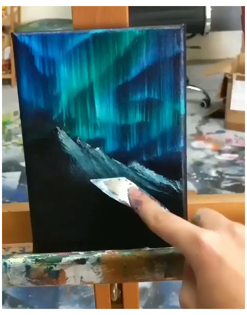abstract painting acrylic canvas