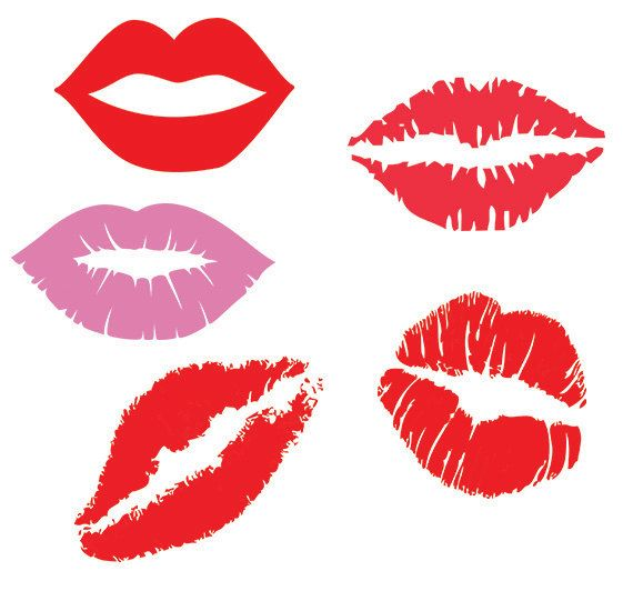 Lips Svg Clipart Pack Lips Kiss Clip Art Digital Download