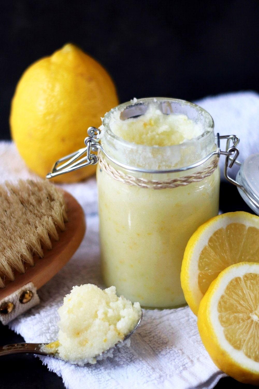 Zuckerpeeling mit Kokosöl und Zitrone - The inspiring life #homemadeskincare