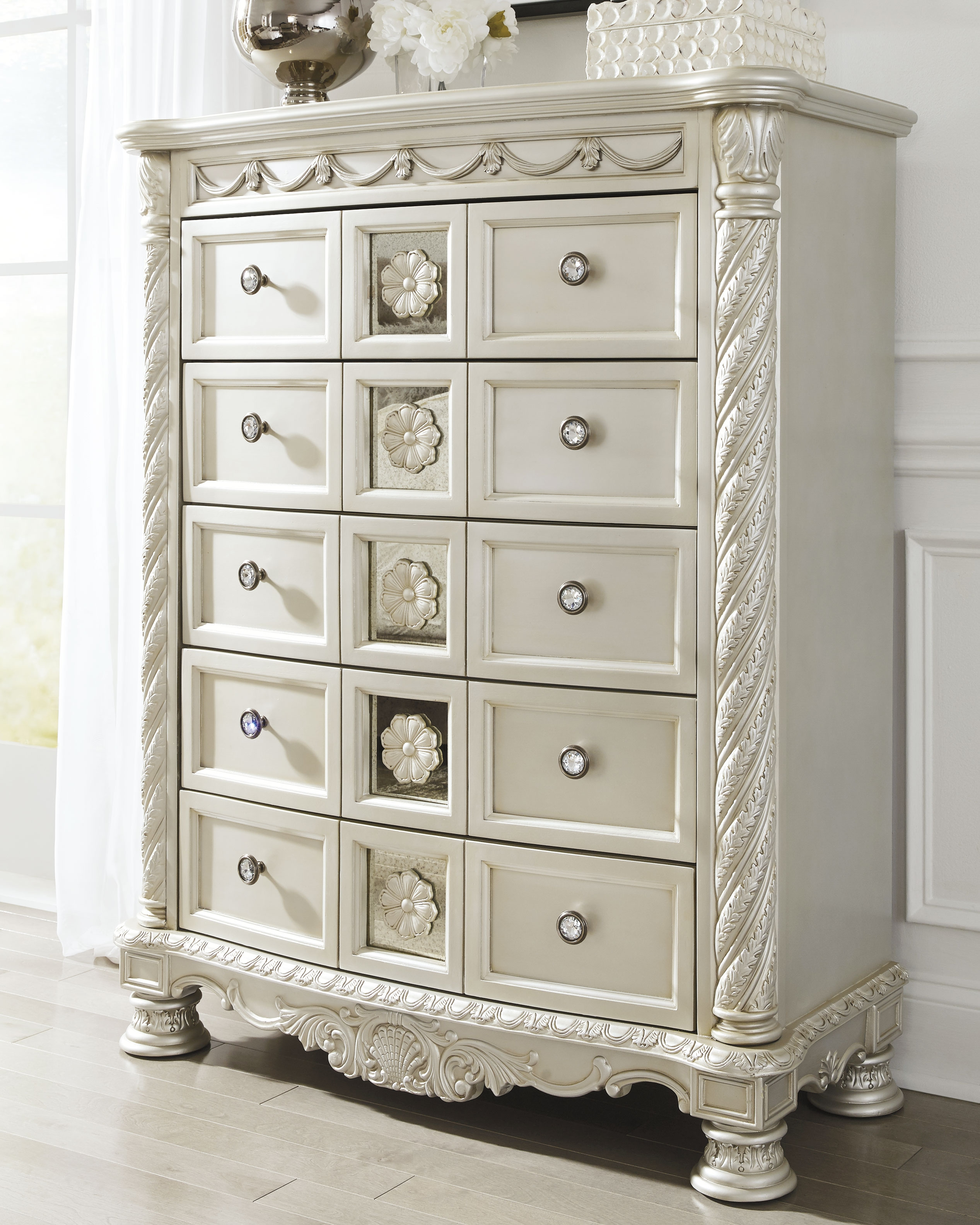 Best Cassimore Chest Of Drawers Pearl Silver Chest Of 400 x 300
