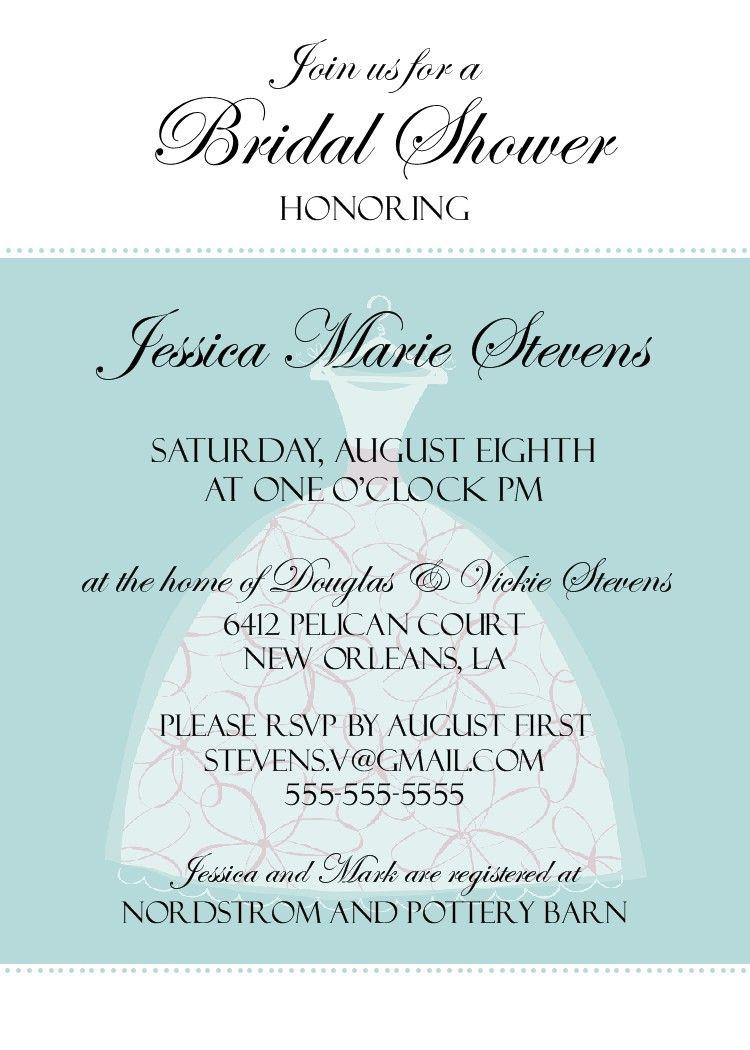 Free Printable Bridal Shower Invitations   ... bridal shower ...