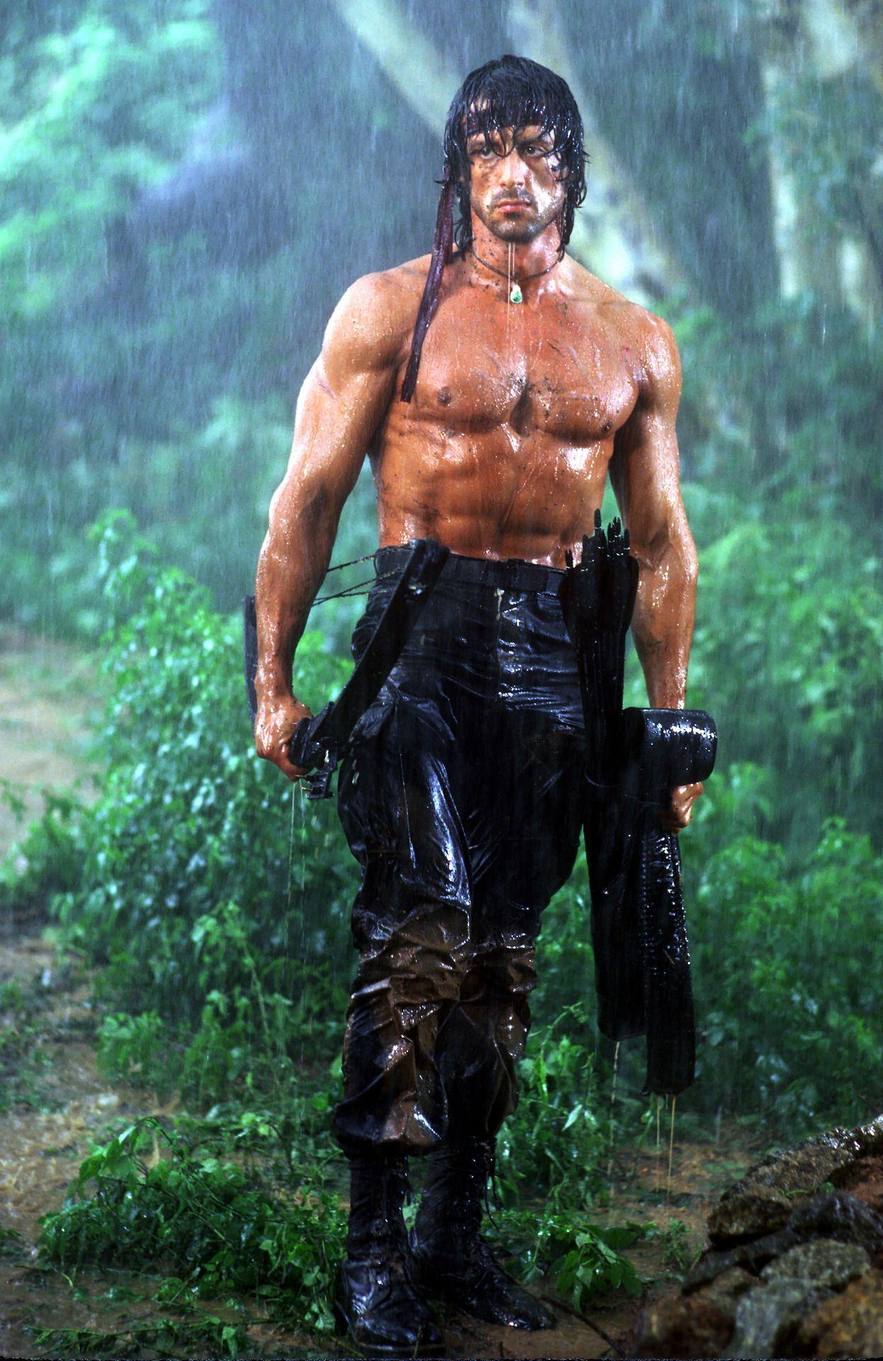 diễn viên Sylvester Stallone trong vai Rambo