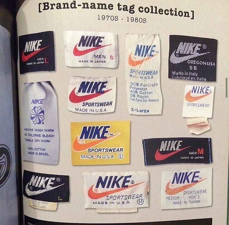 Streetwear V Instagram Old Nike Tags Vintage Tags Vintage Nike Vintage Branding