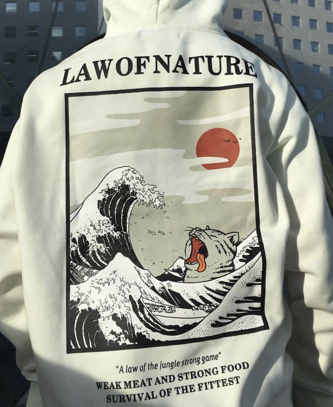 Hoodie LAW OF NATURE disponible en 3 coloris et en édition