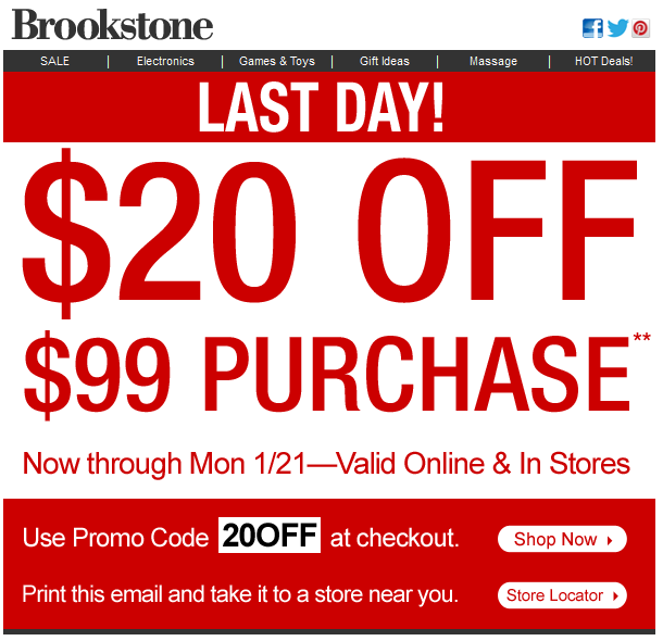 Get Up to 50% Off Brookstone Items at Amazon + Free Shipping w/Prime