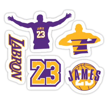 Lebron James 2018 Los Angeles Lakers Sticker Pack The
