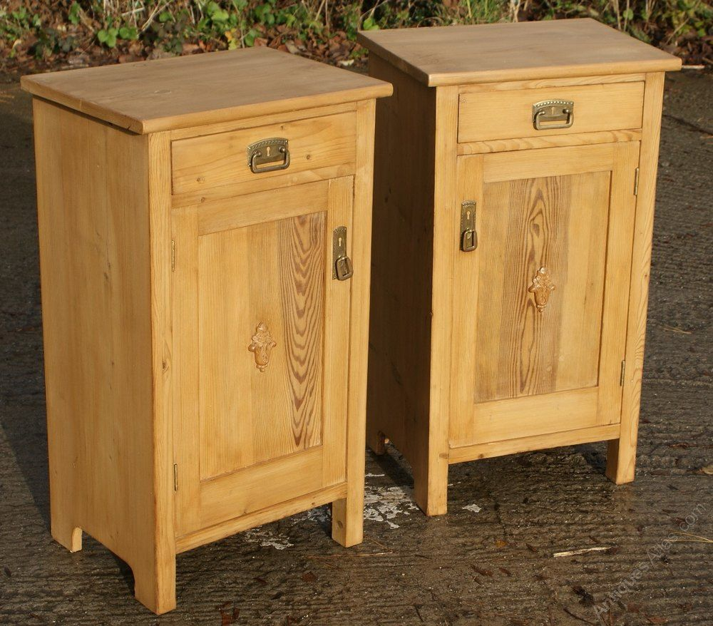 A Pair Of Dutch Pine Bedside Cabinets - Antiques Atlas - A Pair Of Dutch Pine Bedside Cabinets In 2018 Antique Pine