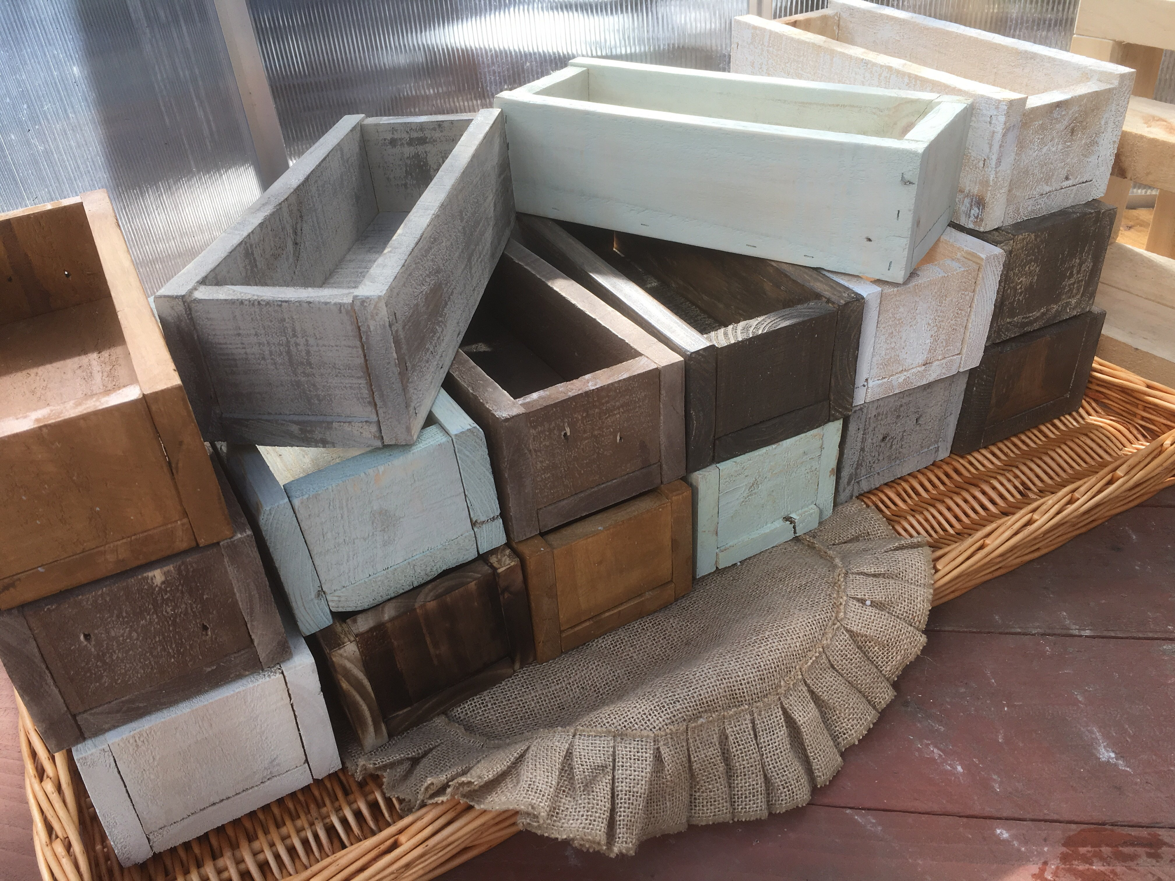 Wholesale 20qty Repurposed Wooden Planter Box Garden Box In 2020 Wooden Planter Boxes Wooden Planters Planter Boxes