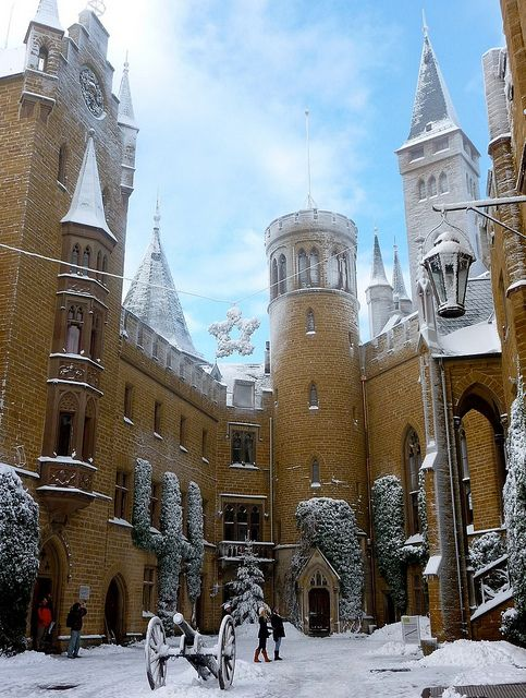 The Winter S Tale Burg Hohenzollern Joy In The Courtyard By Roba66 Via Flickr Hohenzollern Castle Germany Castles Castle