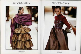 Asian Models Archive: Givenchy 1988 FW Campaign