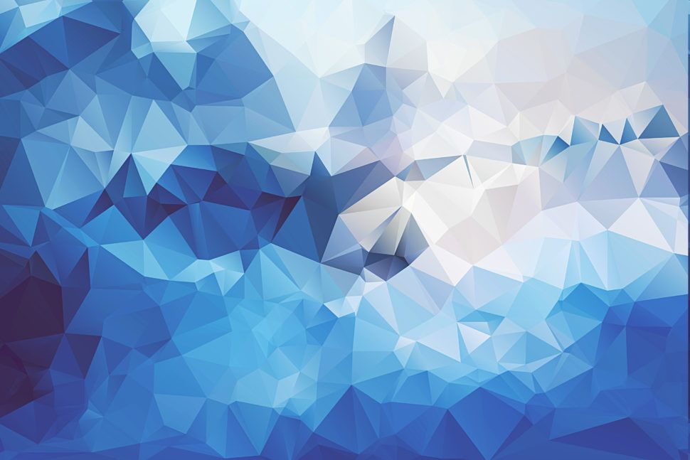 Image Result For Cool Geometric Patterns Blue Geometric Artwork Polygon Art Abstract