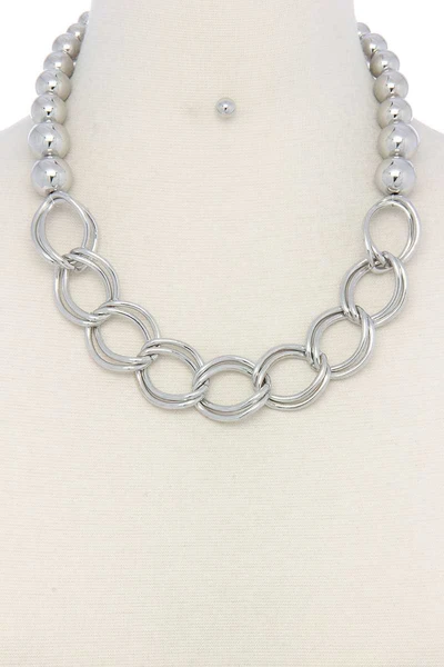 Chunky Ball And Chain Link Short Necklace Forever Dolledup Short Necklace Link Necklace Ball Chain Necklace