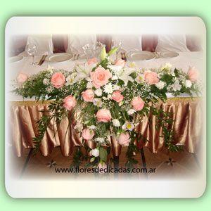 Cuadros rosa 1st cumpleaños Cascada Centro De Mesa