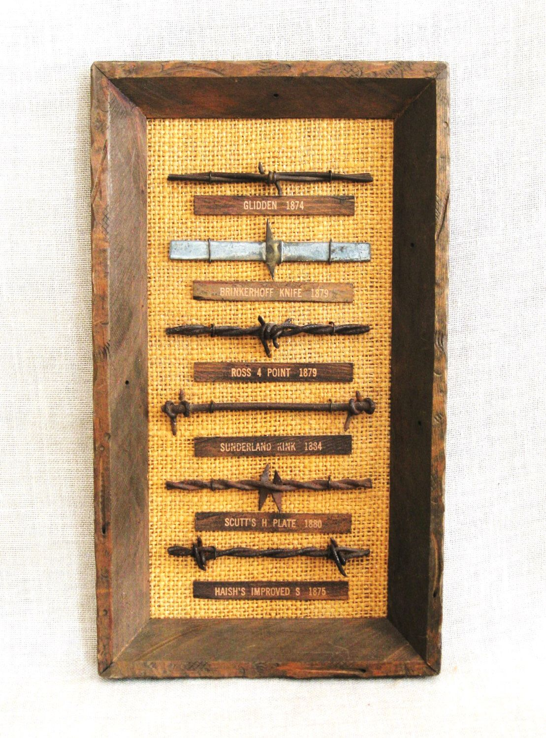 Vintage Barbed Wire Sampler Collection Display, Rustic Decor, Ranch ...