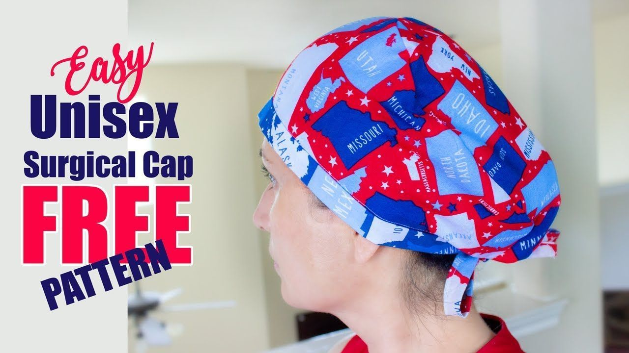 DIY Unisex SURGICAL HAT How to Sew an Easy Surgical Cap