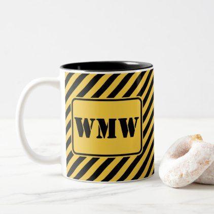 Job site yellow and black monogram two tone coffee mug cyo job site yellow and black monogram two tone coffee mug cyo customize design idea do it yourself diy diy pinterest monograms solutioingenieria Images