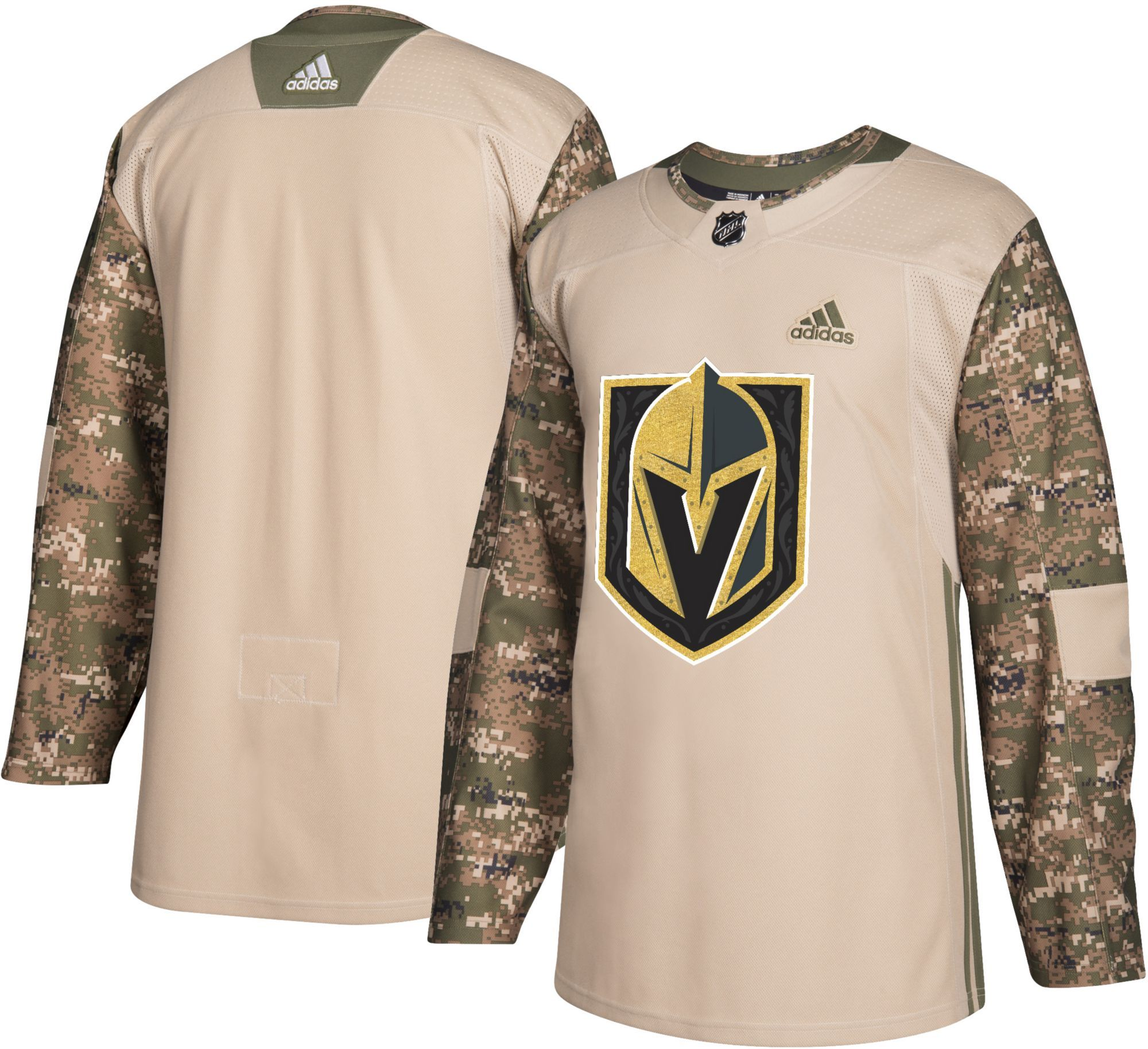 buy online 51308 16099 adidas Men's Vegas Golden Knights Camo Authentic Pro Jersey ...