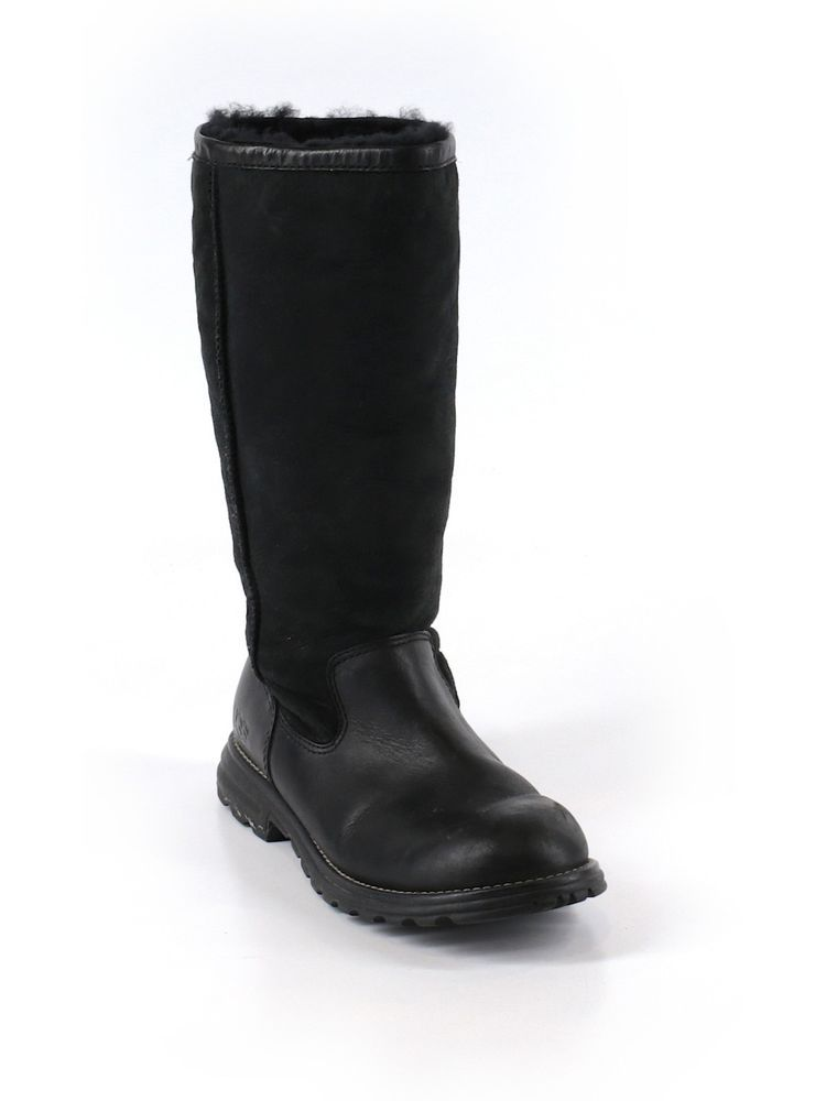 0af54da72e3 Women Ugg Brooks Tall Black Suede Leather Boots 5382 Size 8 39 #ugg ...