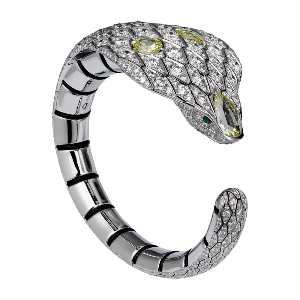 d42b11ff2ad5a Cartier Serpent bangle featuring yellow diamonds from the Indian ...