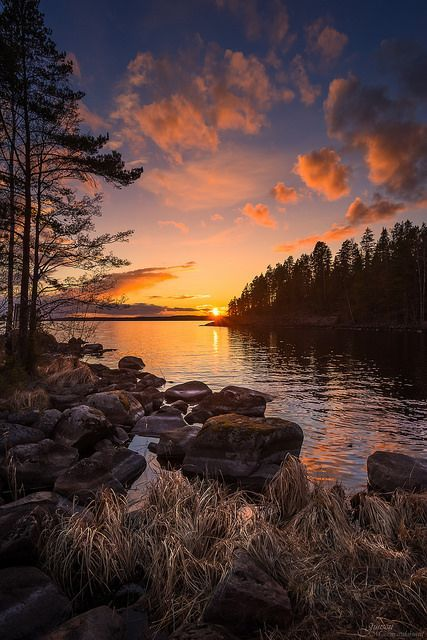 Tranquil End Of The Day This Calm Sunset Occurred Over Lak Flickr Nature Beautiful Landscapes Nature Photography