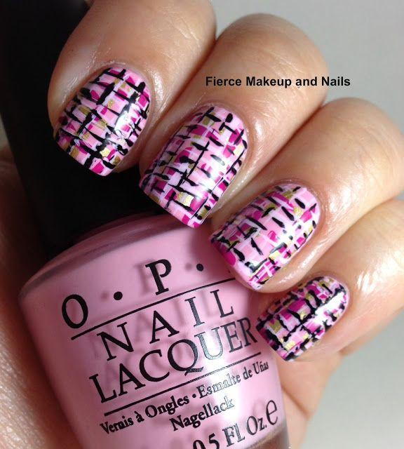 Fierce Makeup and Nails: Chanel Tweed Nails #chanel #tweed