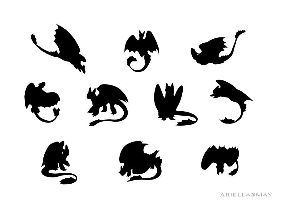 toothless silhouette | Toothless Silhouettes by AriellaMay ...