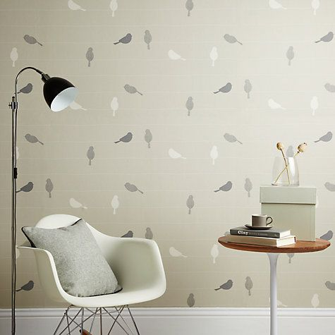 Buy John Lewis Bird on a Wire Wallpaper Online at johnlewis.com | Dining Room Inspiration | Bird ...