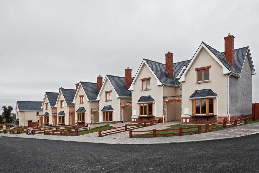 Creepy neighborhood where all the houses look the same.