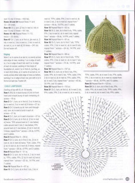 PATRONES GRATIS DE CROCHET: Patrón gratis de 3 preciosas lámparas a crochet