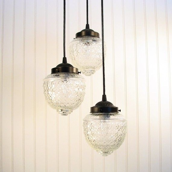 Island falls ii clear chandelier trio created new by lampgoods 189 00