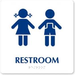 Child Restroom Sign