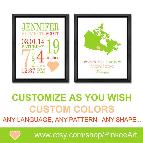 Baby announcement wall art canada map baby custom details baby baby announcement wall art canada map baby custom details baby subway art birth negle Choice Image