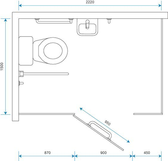 Toilet Cubicle Dimensions Wheelchair accessible cubicle dimensions detail  pinterest