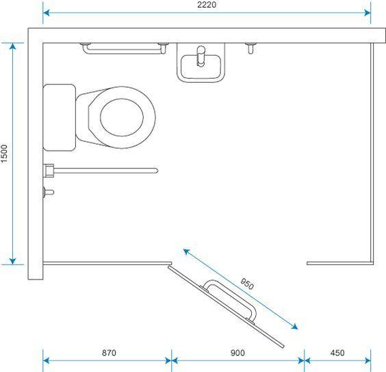 toilet cubicle dimensions wheelchair accessible cubicle dimensions rh pinterest com