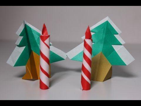 簡単折り紙 キャンドル - YouTube