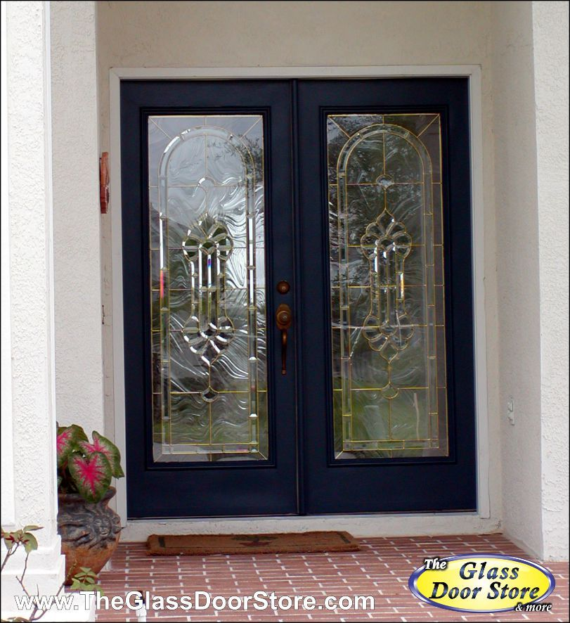 Baroque glass in double door glass inserts they look for Baroque glass door