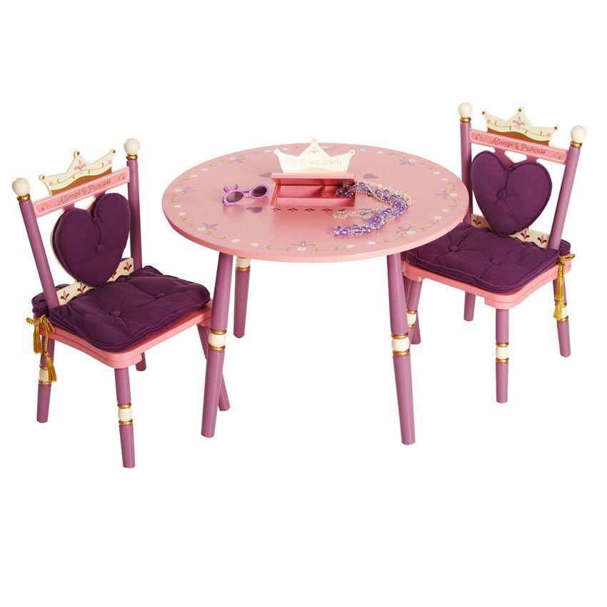 Wildkin Kids Princess 3 Piece Table And Chair Set Table Chairs Table Chair Sets Kids Table Chairs