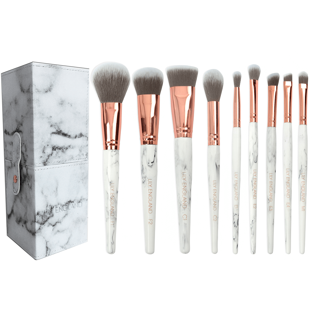 The Marble Luxe Makeup Brush Set & Case in 2020 Makeup