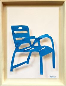 Artnice Editions Metal Paintings La Chaise Bleue De Nice Chaise Bleu Chaise Metal